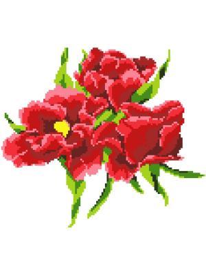 Набор 22х32 (рис/канв., мулине) NITEX. Цвет: красный, зеленый