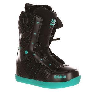 Ботинки для сноуборда женские  Z 86 Ft Black/Blue Thirty Two. Цвет: черный,голубой