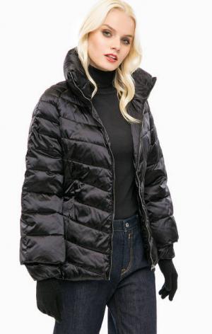 Черная стеганая куртка с перчатками Trussardi Jeans. Цвет: черный