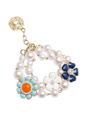 Браслет Kameo-bis. Цвет: белый, синий, оранжевый