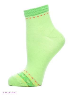 Носки, 2 пары Cascatto. Цвет: зеленый