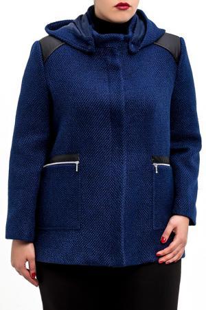 Пальто DIBYE. Цвет: синий