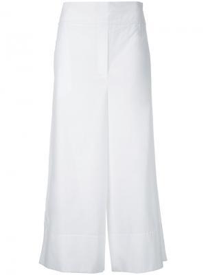 Укороченные брюки с высокой посадкой Goen.J. Цвет: белый
