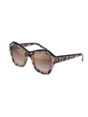 Солнцезащитные очки Stella McCartney. Цвет: черный, коричневый