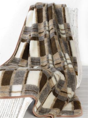 Плед ALWERO. Цвет: бежевый, коричневый, молочный, темно-коричневый