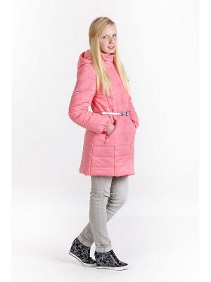 Пальто для девочки NIKASTYLE. Цвет: розовый