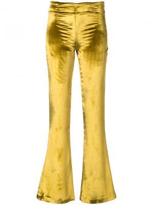 Расклешенные брюки Galvan. Цвет: жёлтый и оранжевый