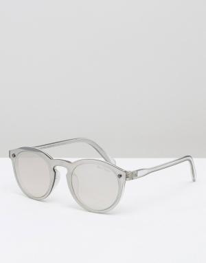 Black Phoenix Круглые солнцезащитные очки. Цвет: прозрачный