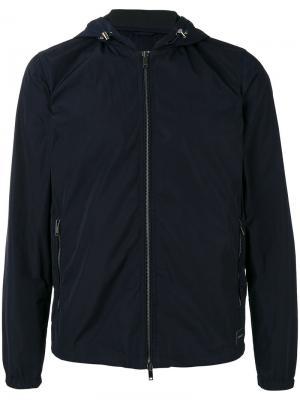Куртка с капюшоном Dondup. Цвет: синий