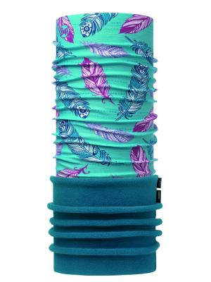 Бандана POLAR JUNIOR FEATHERS POOL  OL / OCEAN Buff. Цвет: бирюзовый