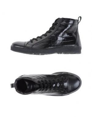 Высокие кеды и кроссовки SIMONE MARIOTTI. Цвет: черный