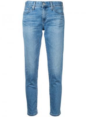 Укороченные джинсы Ag Jeans. Цвет: синий