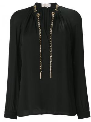 Блузка с цепочкой Michael Kors. Цвет: чёрный