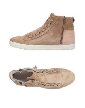 Высокие кеды и кроссовки CESARE P.. Цвет: песочный