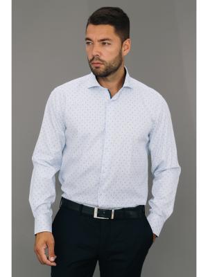 Рубашка John Jeniford. Цвет: голубой, белый