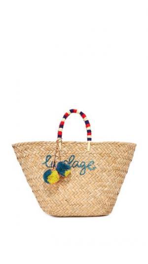 Объемная сумка с короткими ручками La Plage Kayu