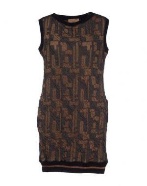 Короткое платье RE.SET. Цвет: бронзовый