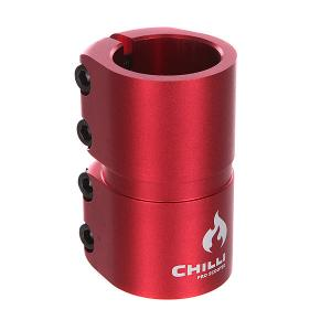Зажимы  7000 Scs 4 Bolts Clamp Red Matt Chilli. Цвет: бордовый