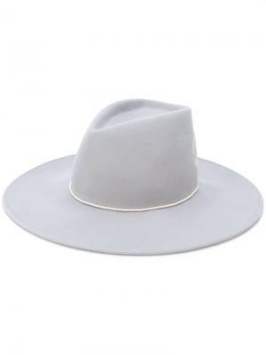 Шляпа-трилби Rebel с кристаллами Swarovski Eugenia Kim. Цвет: серый