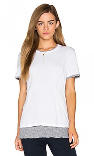Двухслойная футболка с коротким рукавом MONROW. Цвет: белый