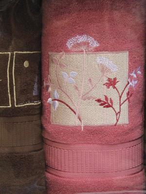Полотенце, 3 шт OZDILEK. Цвет: коричневый, красный