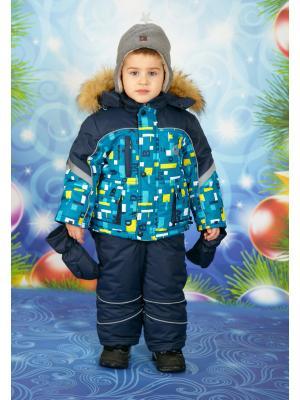 Комплект для мальчика Little Boy. Цвет: темно-синий, бирюзовый