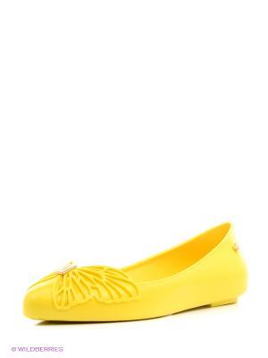 Балетки ZAXY. Цвет: желтый