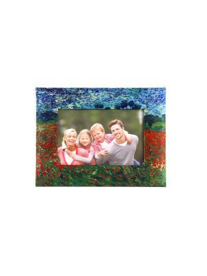 Фоторамка Маковое поле для фото 18*13см, 25*19см Русские подарки. Цвет: синий, зеленый, красный