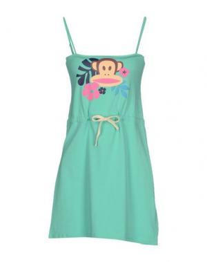 Короткое платье PAUL FRANK. Цвет: светло-зеленый