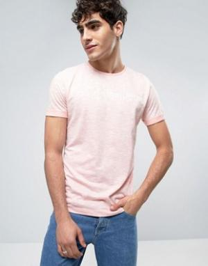 Calvin Klein Jeans Меланжевая футболка с логотипом. Цвет: оранжевый