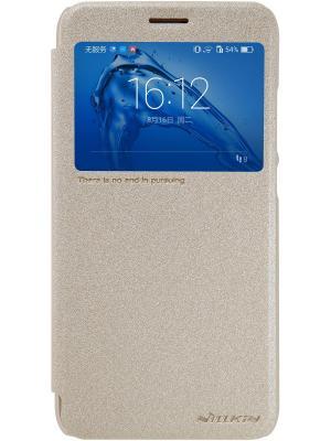 Чехол-книжка Nillkin Sparkle Leather Case для Huawei Nova Plus. Цвет: золотистый