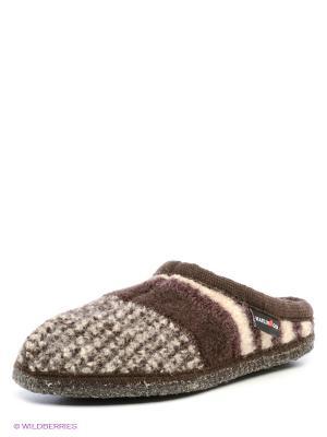 Тапочки Haflinger. Цвет: темно-коричневый