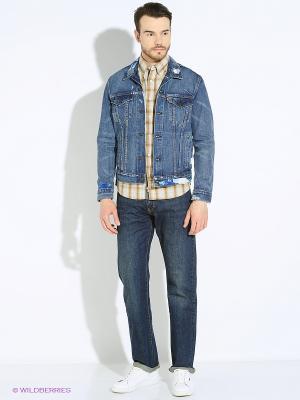 Куртка джинсовая Levi's®. Цвет: синий