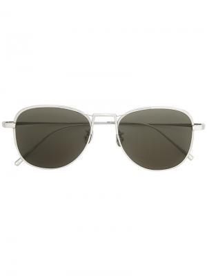 Солнцезащитные очки-авиаторы Maska. Цвет: металлический