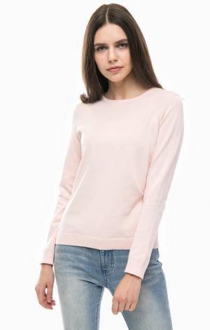 Хлопковый джемпер с длинными рукавами Gant. Цвет: розовый