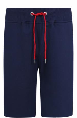 Хлопковые шорты свободного кроя Frankie Morello. Цвет: темно-синий
