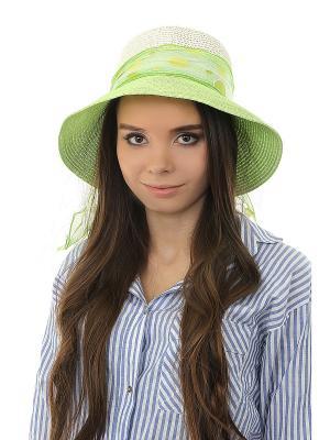 Шляпа Happy Charms Family. Цвет: зеленый, белый