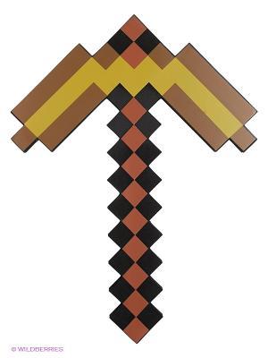 Кирка Золотая пиксельная 45см Toypost. Цвет: коричневый