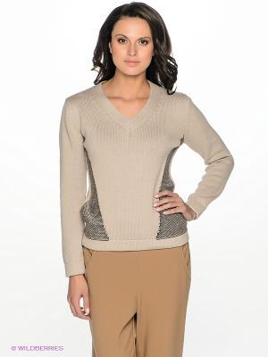 Пуловер ZENDRA. Цвет: светло-бежевый