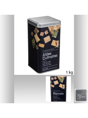 Банка для хранения  сыпучих продуктов из окрашенных металлов 8,8х8,8х7 см JJA. Цвет: черный,серебристый,светло-коричневый