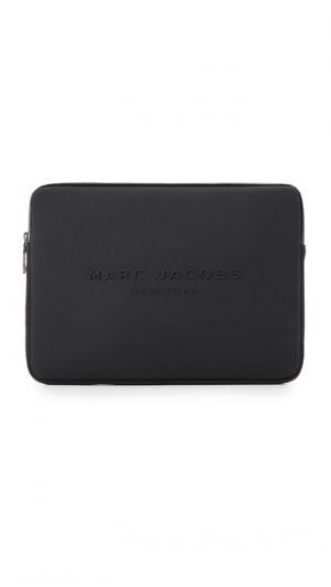 Неопреновый чехол для ноутбука с диагональю экрана 15 дюймов Marc Jacobs. Цвет: голубой