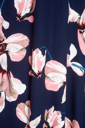Платье в пол Valentina Erdem. Цвет: синий, розовый