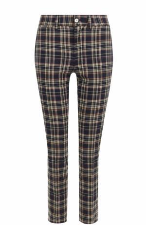Укороченные брюки в клетку Polo Ralph Lauren. Цвет: синий