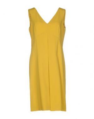 Платье до колена CALALUNA. Цвет: охра