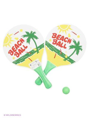 Набор для игры в пляжный пинг-понг Magic Home. Цвет: белый, зеленый, красный, желтый