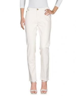 Джинсовые брюки DUCK FARM. Цвет: слоновая кость