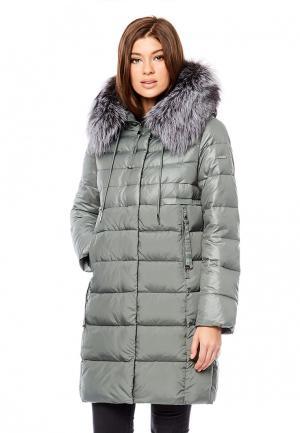 Куртка утепленная Alyaska. Цвет: зеленый