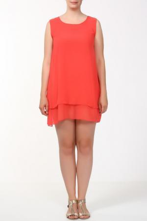 Платье Веста. Цвет: коралл