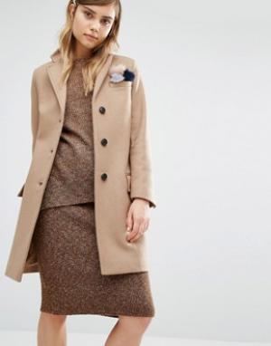 Gloverall Классическое пальто Chesterfield. Цвет: бежевый