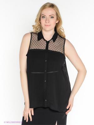 Блузка New Look. Цвет: черный